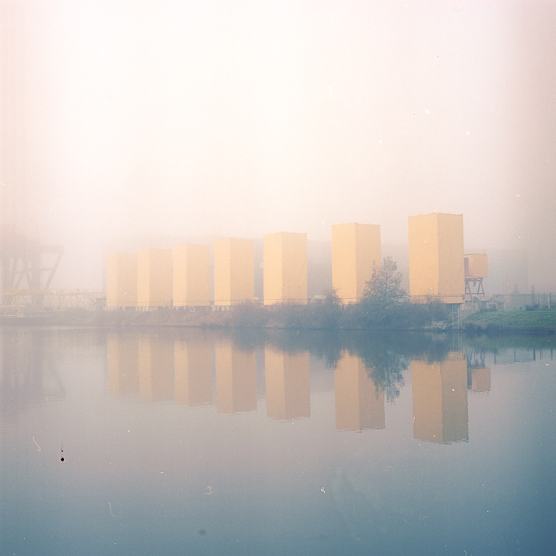 Yellow silos. Nov. 2014